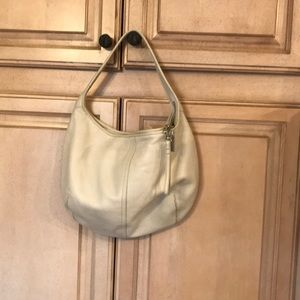 Coach Winter white zip top handbag